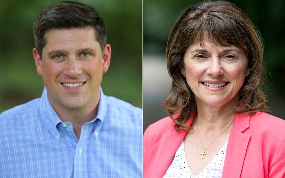 State Sen. Leah Vukmir, right, defeated businessman and veteran Kevin Nicholson in Tuesday night's primary.