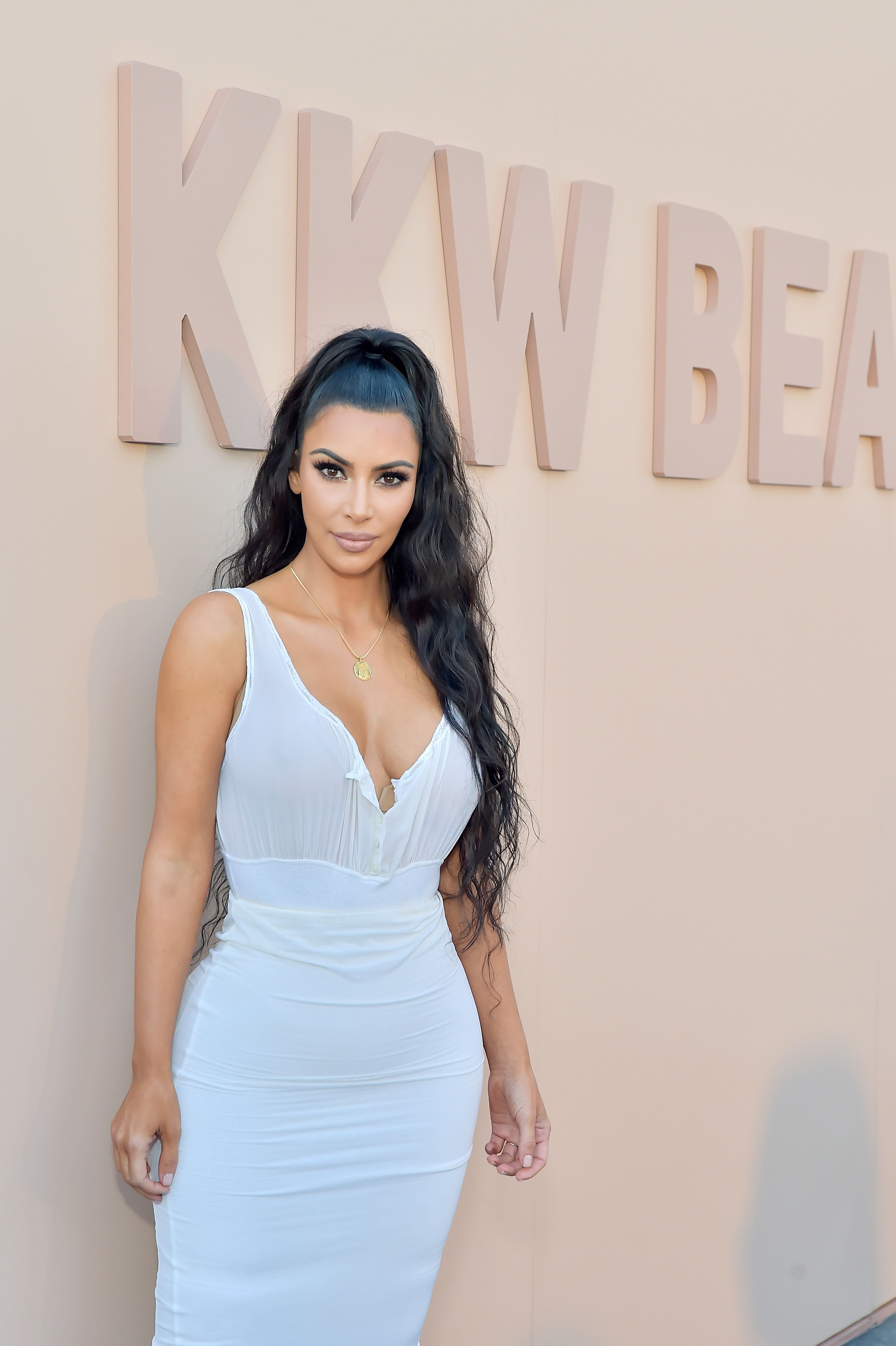 LOS ANGELES, CA - JUNE 30:  Kim Kardashian West attends KKW Beauty Fan Event at KKW Beauty on June 30, 2018 in Los Angeles, California.  (Photo by Stefanie Keenan/Getty Images for ABA)
