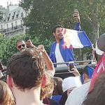 La France championne du Monde: Jamel Debbouze fait la fête à la