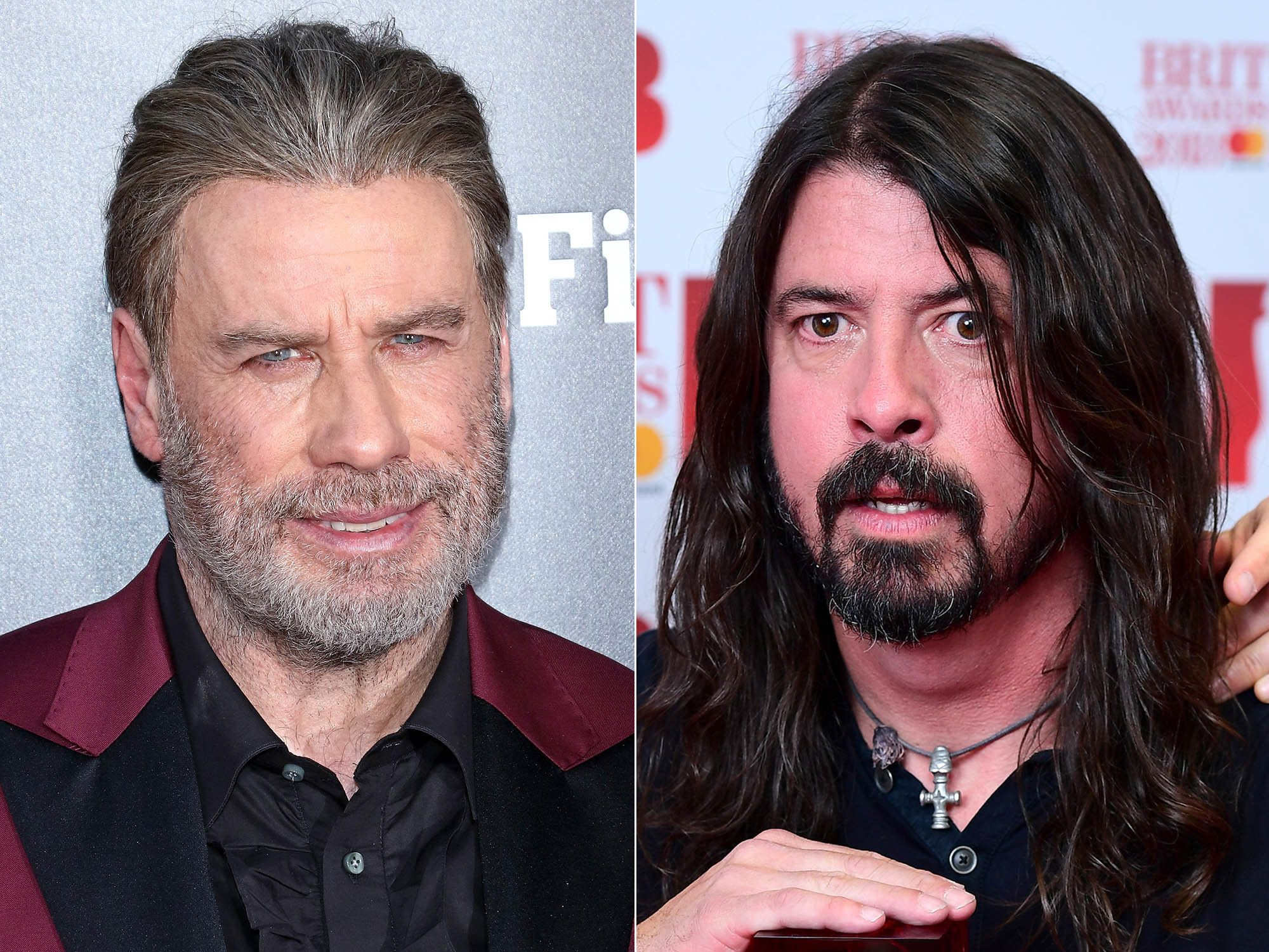 John Travolta briefly sang with Dave Grohl on Saturday night.