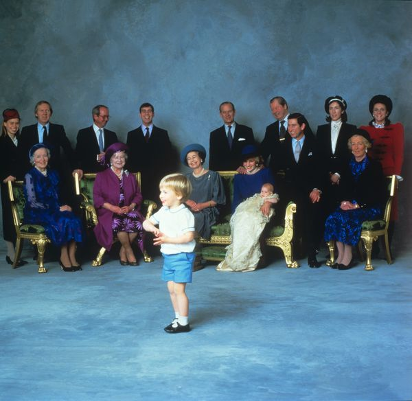 Prince William steals the spotlightfollowing Prince Harry's christening.
