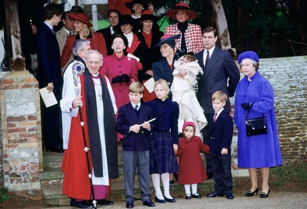 The Royal Family at Sandringham Church for Princess Eugenie's christening onDec. 23, 1990.