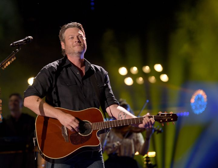 Blake Shelton during a steadier performanceat the 2018 CMA Music Festival on June 8 in Nashville.
