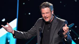NASHVILLE, TN - JUNE 06:  Blake Shelton speaks onstage at the 2018 CMT Music Awards at Bridgestone Arena on June 6, 2018 in Nashville, Tennessee.  (Photo by Jeff Kravitz/FilmMagic)