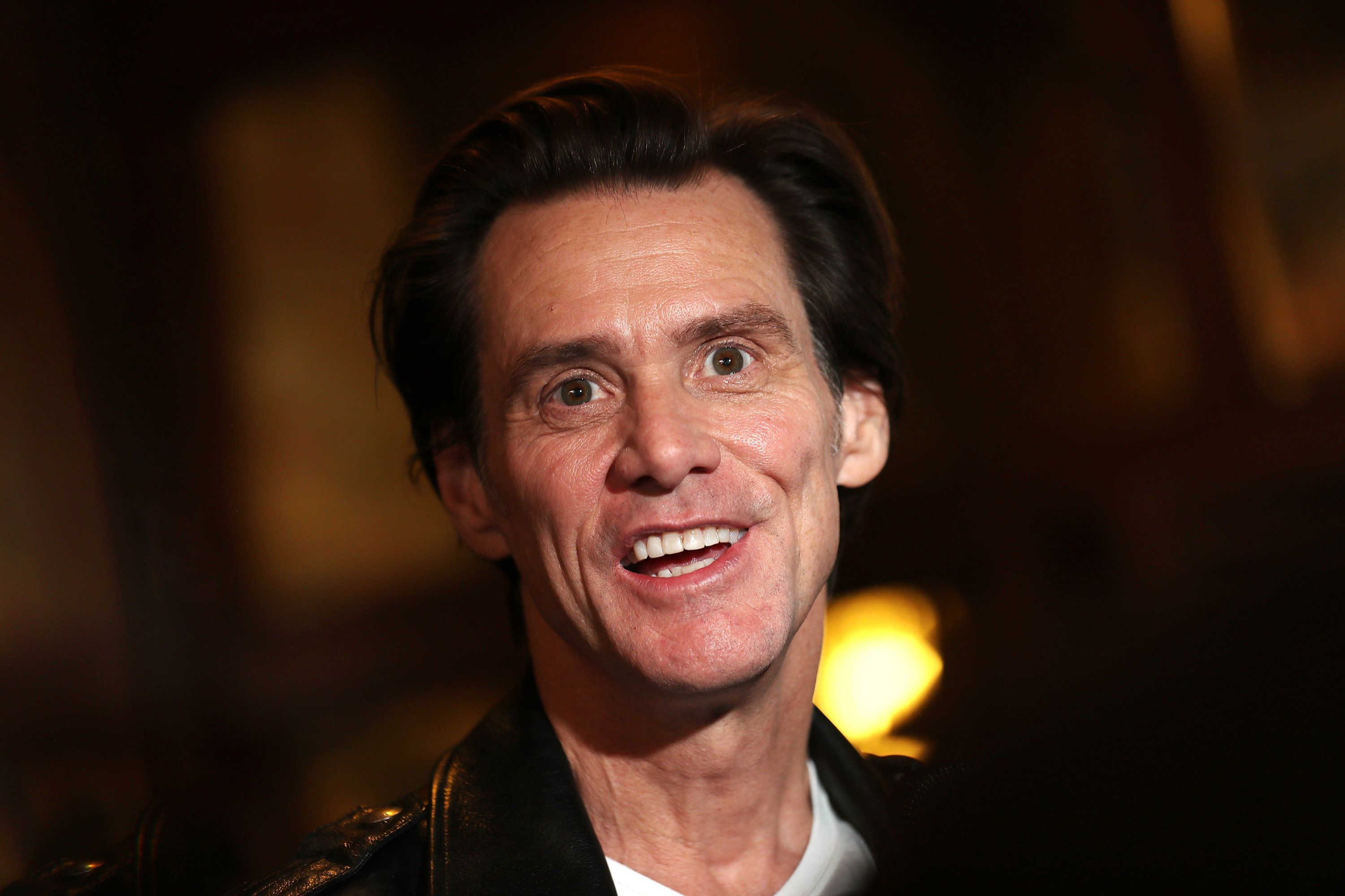 TORONTO, ON - SEPTEMBER 11:  Actor/comedian Jim Carrey speaks to the media at the premiere of 'Jim & Andy: The Great Beyond' during the 2017 Toronto International Film Festival at Winter Garden Theatre on September 11, 2017 in Toronto, Canada.  (Photo by J. Countess/WireImage)