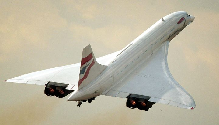 The last British Airways Concorde flight to take off from Heathrow leaves the airport on Oct. 24, 2003.