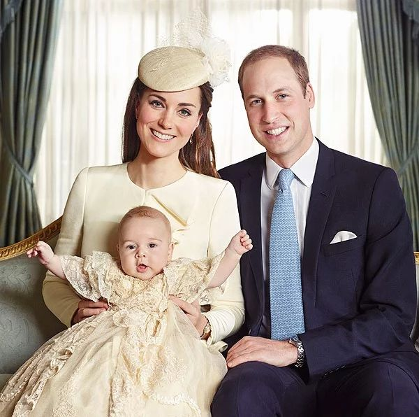 The Duke and Duchess of Cambridge after Prince George's christening onOct. 23, 2013.