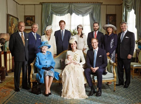 Official group portrait taken after Prince George's christening.