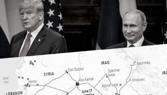 Diese Karte zeigt einen riskanten Fehler, den Trump in Syrien machen