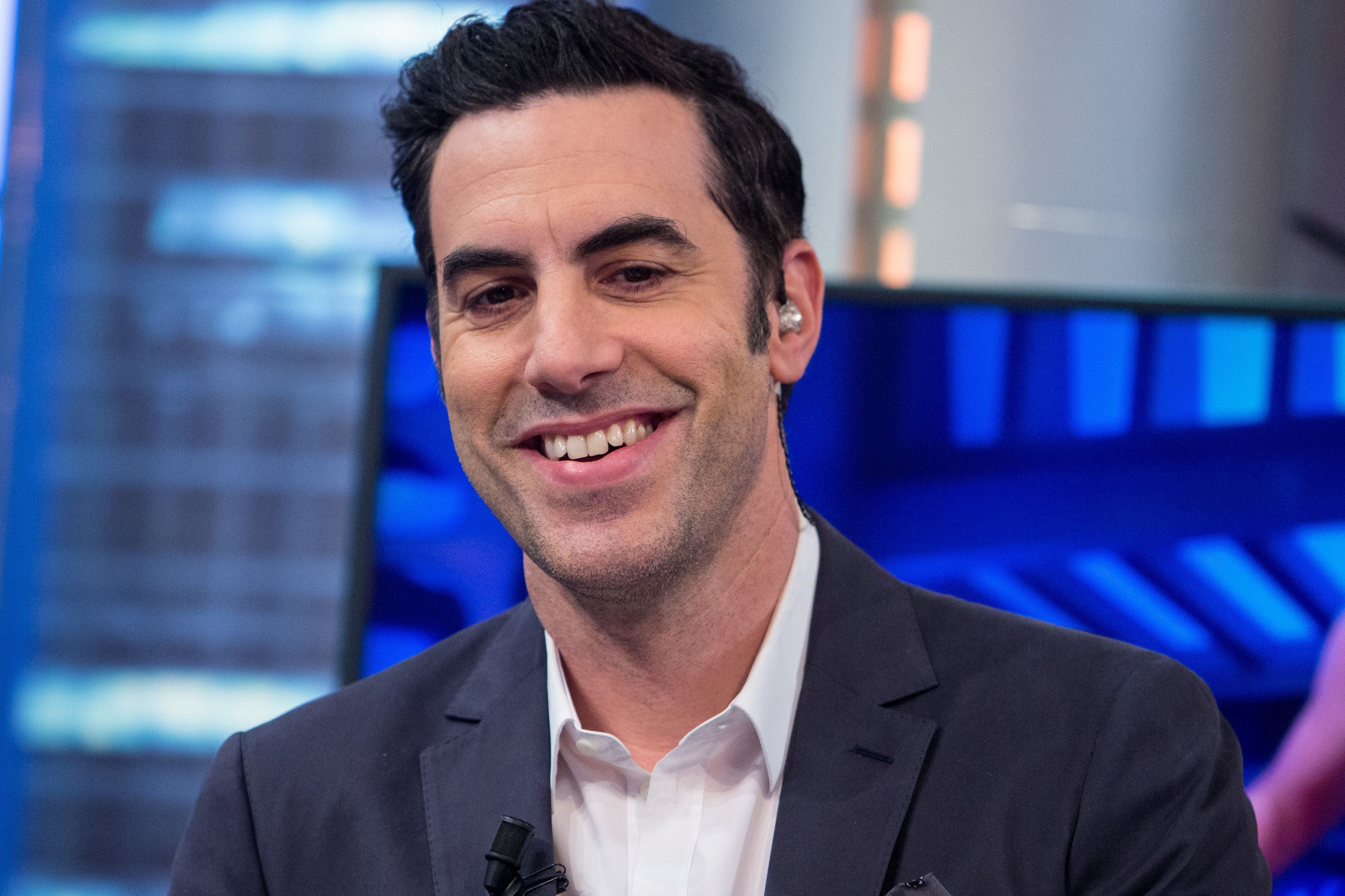 MADRID, SPAIN - MARCH 17:  Sacha Baron Cohen attends 'El Hormiguero' Tv Show at Vertice Studio on March 17, 2016 in Madrid, Spain.  (Photo by Pablo Cuadra/WireImage)