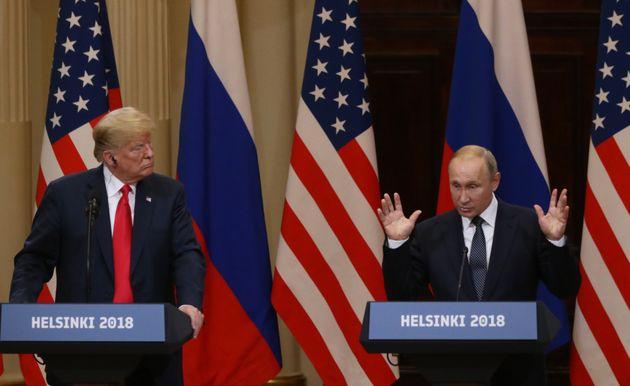 트럼프와 푸틴의 기자회견에서 엄선한 하이라이트