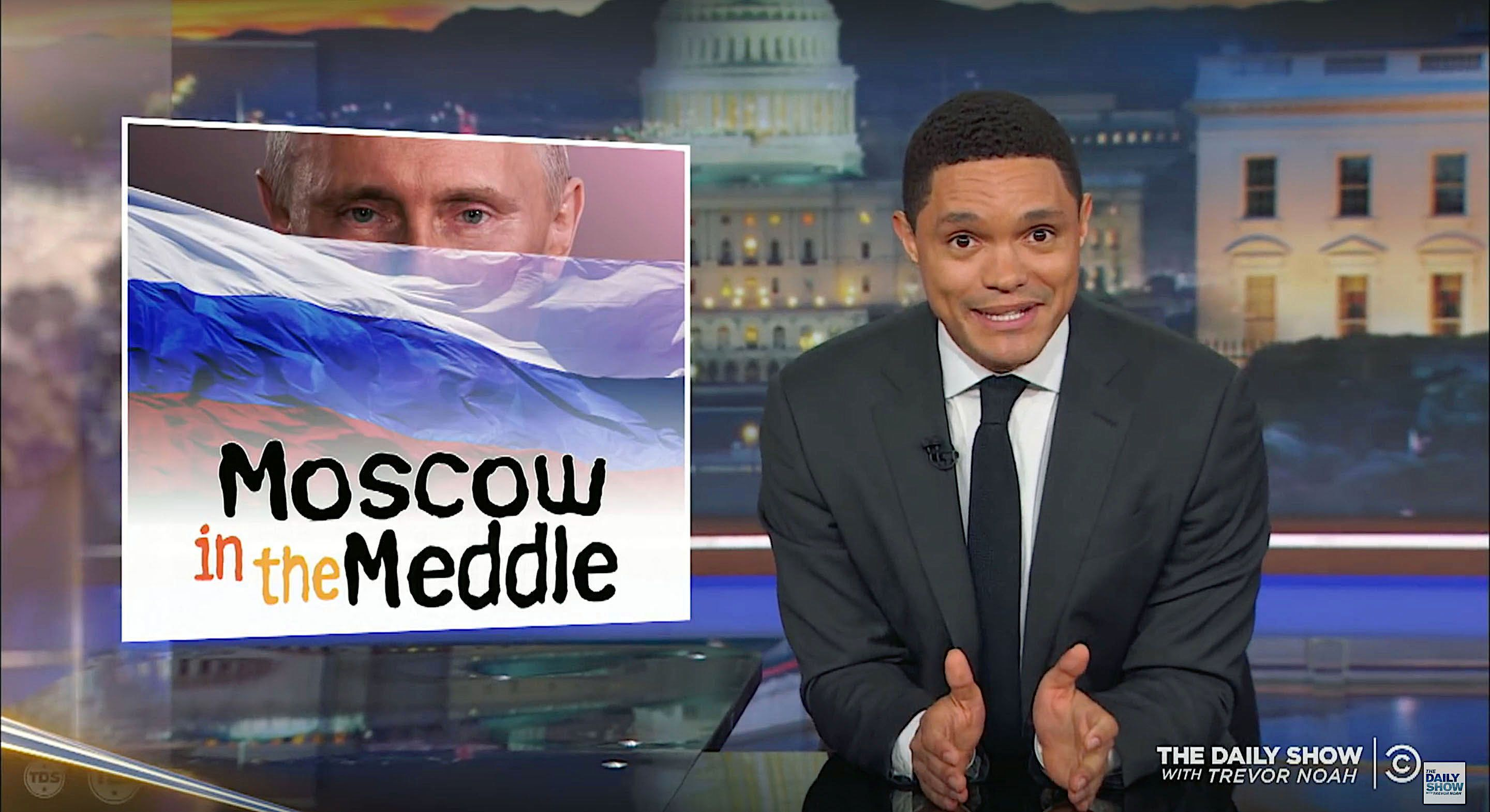 Trevor Noah of The Daily Show analyzes the Trump-Putin news conference