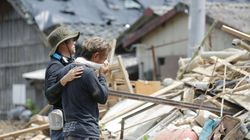 서일본 폭우 피해지역에서 가스통 2400개가