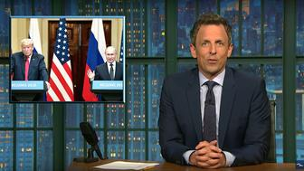 Seth Meyers of Late Night takes a closer look at the Trump-Putin summit