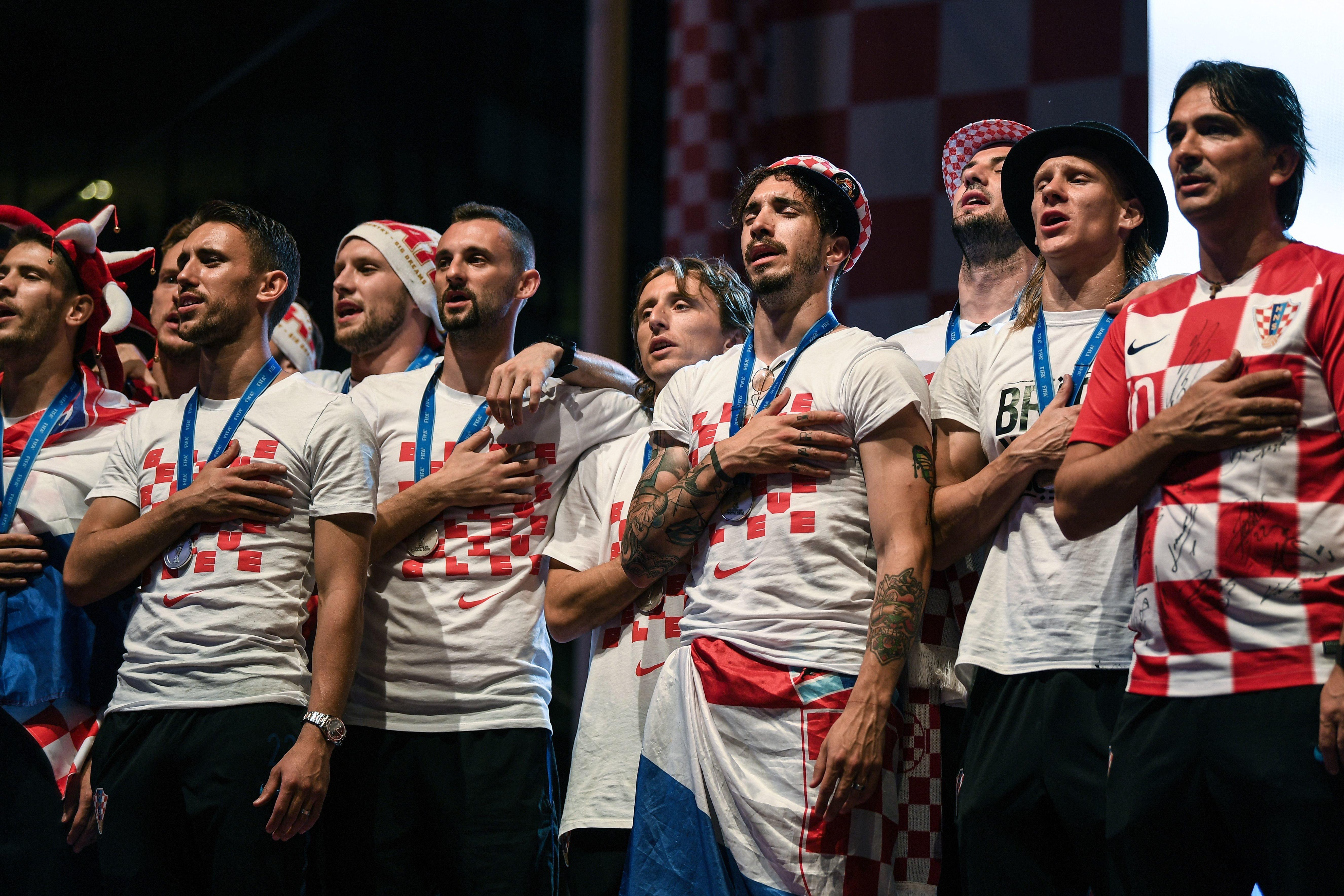 Eklat bei WM-Feier: Kroatiens Nationalteam feiert mit