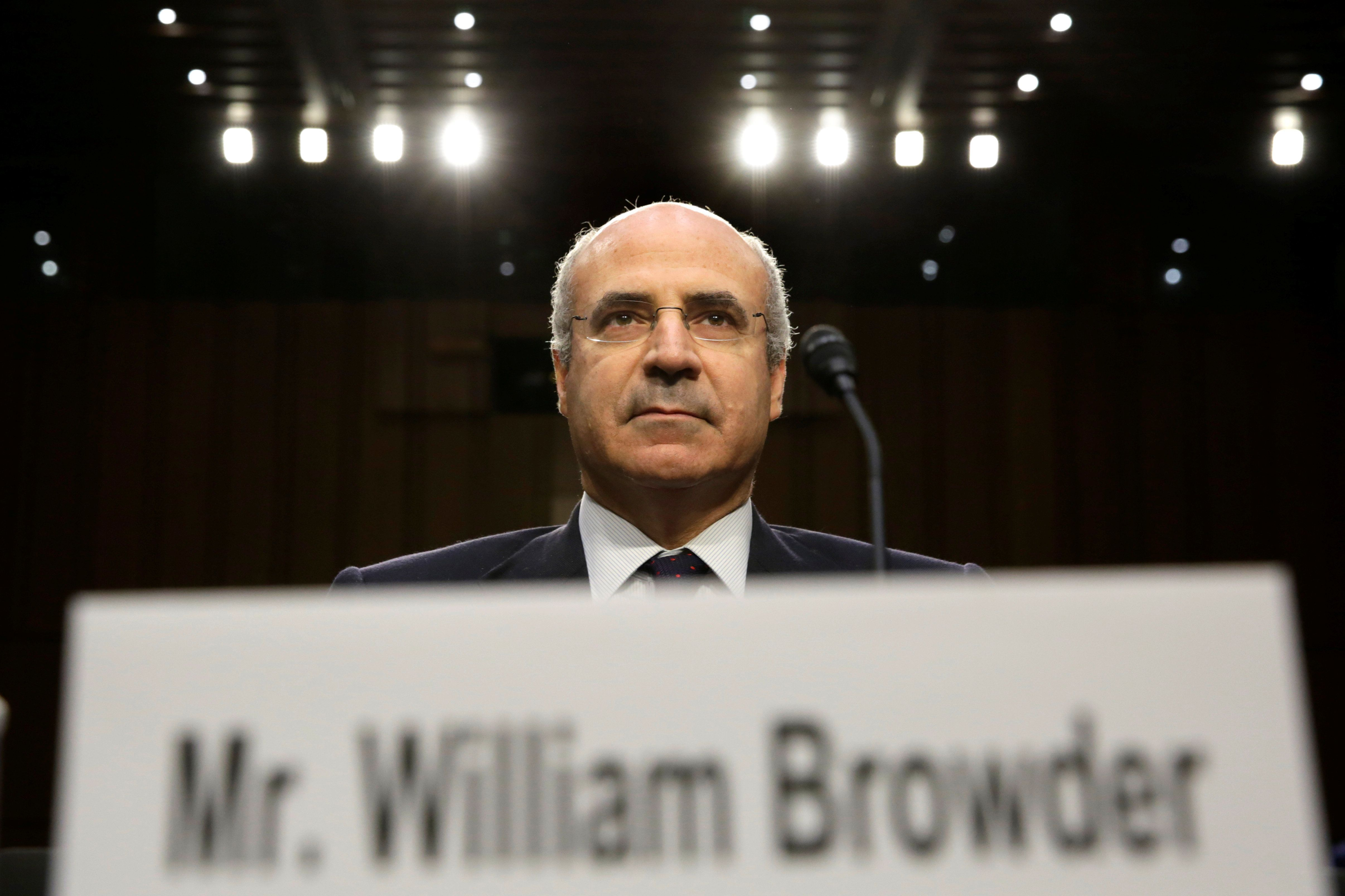Hermitage Capital CEO William Browder waits to testify before a continuation of Senate Judiciary Committee hearing on alleged Russian meddling in the 2016 presidential election on Capitol Hill in Washington, U.S., July 27, 2017. REUTERS/Yuri Gripas
