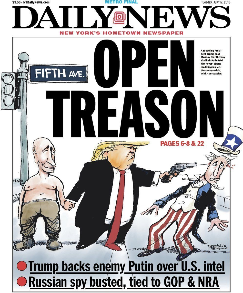 Après le discours de Trump aux côtés de Poutine à Helsinki, les démocrates et plusieurs républicains