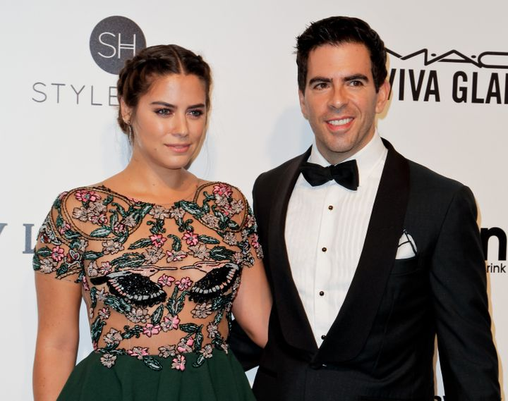 Horror director Eli Roth and Lorenza Izzo, pictured at an Oscar-viewing party in 2017, married in 2014.