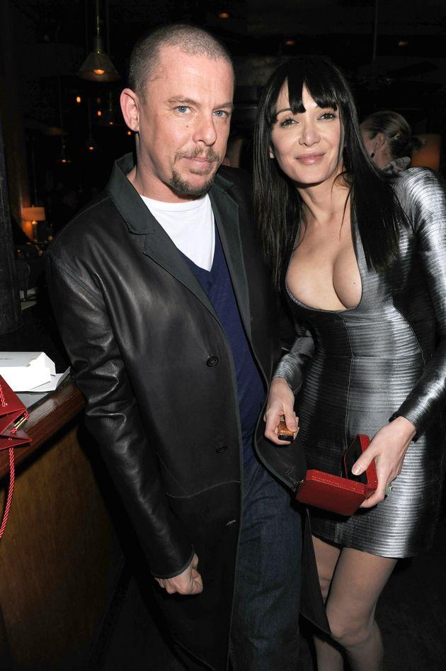 Alexander McQueen and Annabelle Neilsonpictured in