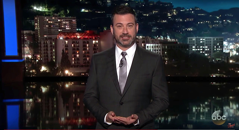 Jimmy Kimmel reflecting on the summit meeting between President Donald Trump and Russian President Vladimir Putin