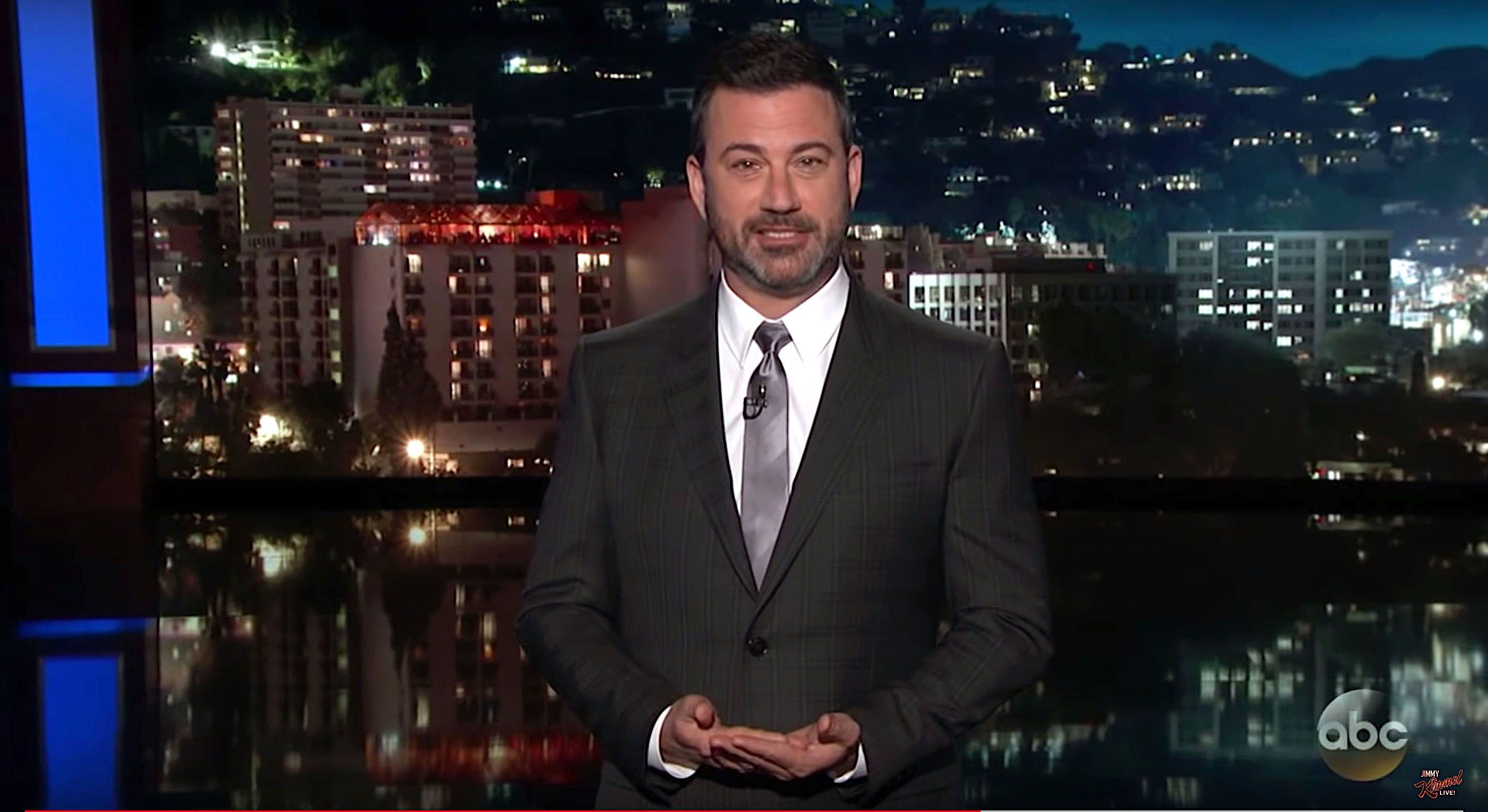 Jimmy Kimmel reflecting on the summit meeting between President Donald Trump and Russian President Vladimir Putin