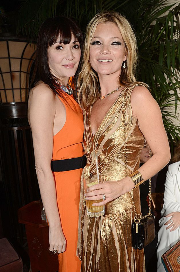 Neilson with Kate Moss in