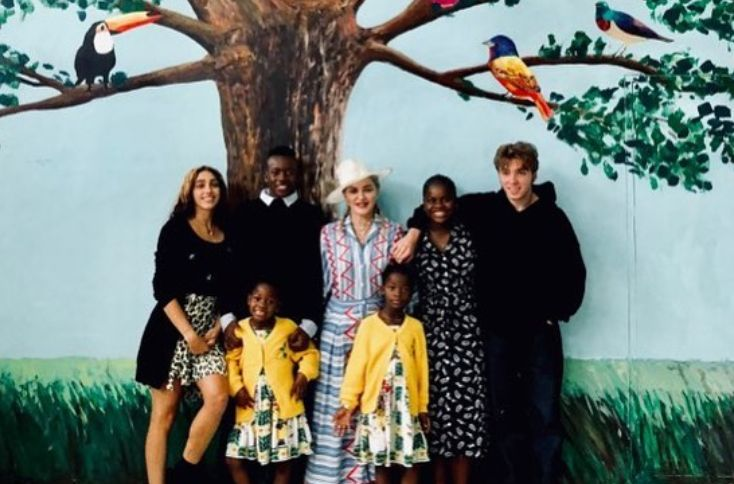 RARE PHOTO: Madonna Shares Pic With All Six Of Her Children At Hospital Named After Her Daughter,