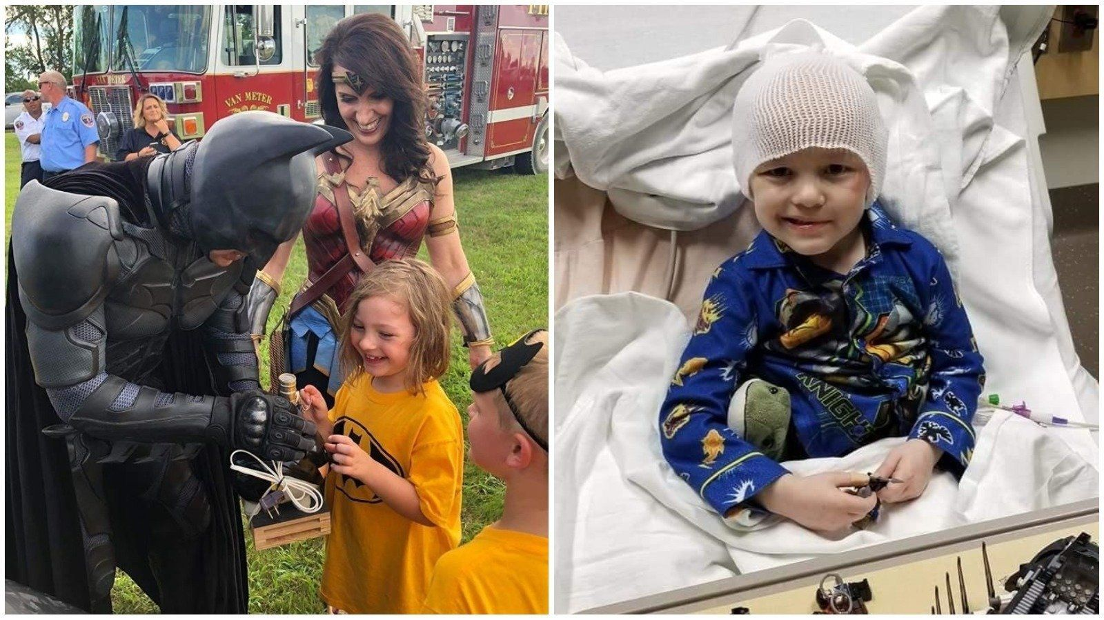 Batman And Wonder Woman Honour Last Wishes Of Boy Who Wrote His Own