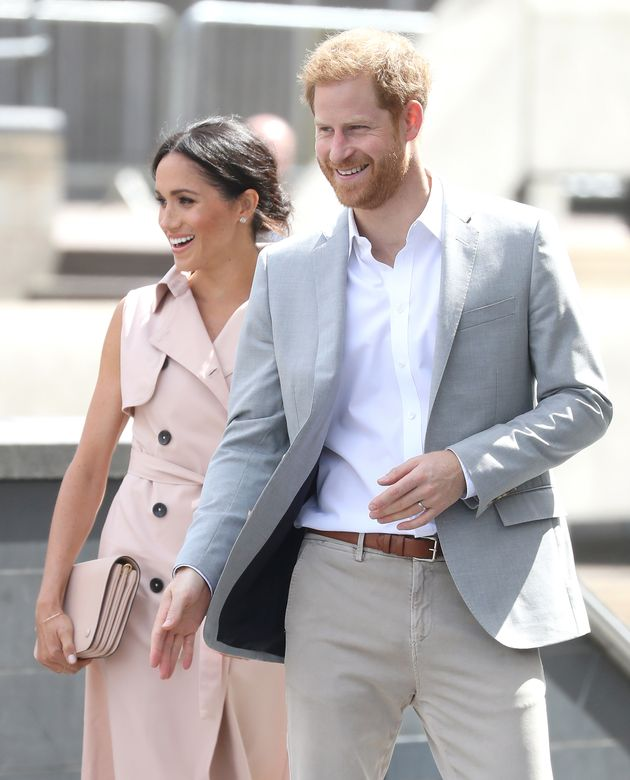 The Duke and Duchess of Sussex were all smiles at the