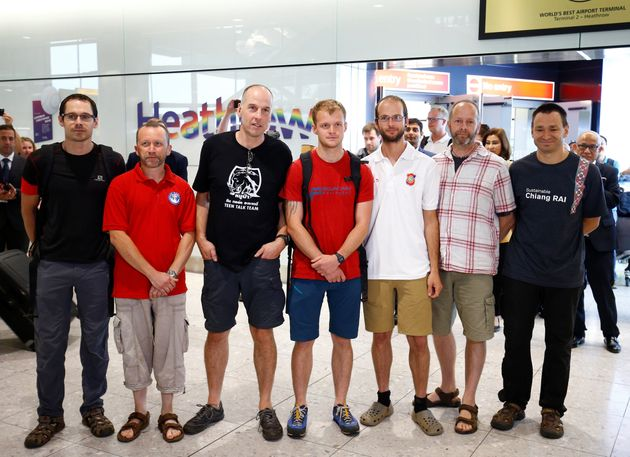 The British cave divers involved in freeing the young football team from a Thai cave -Rick Stanton,...
