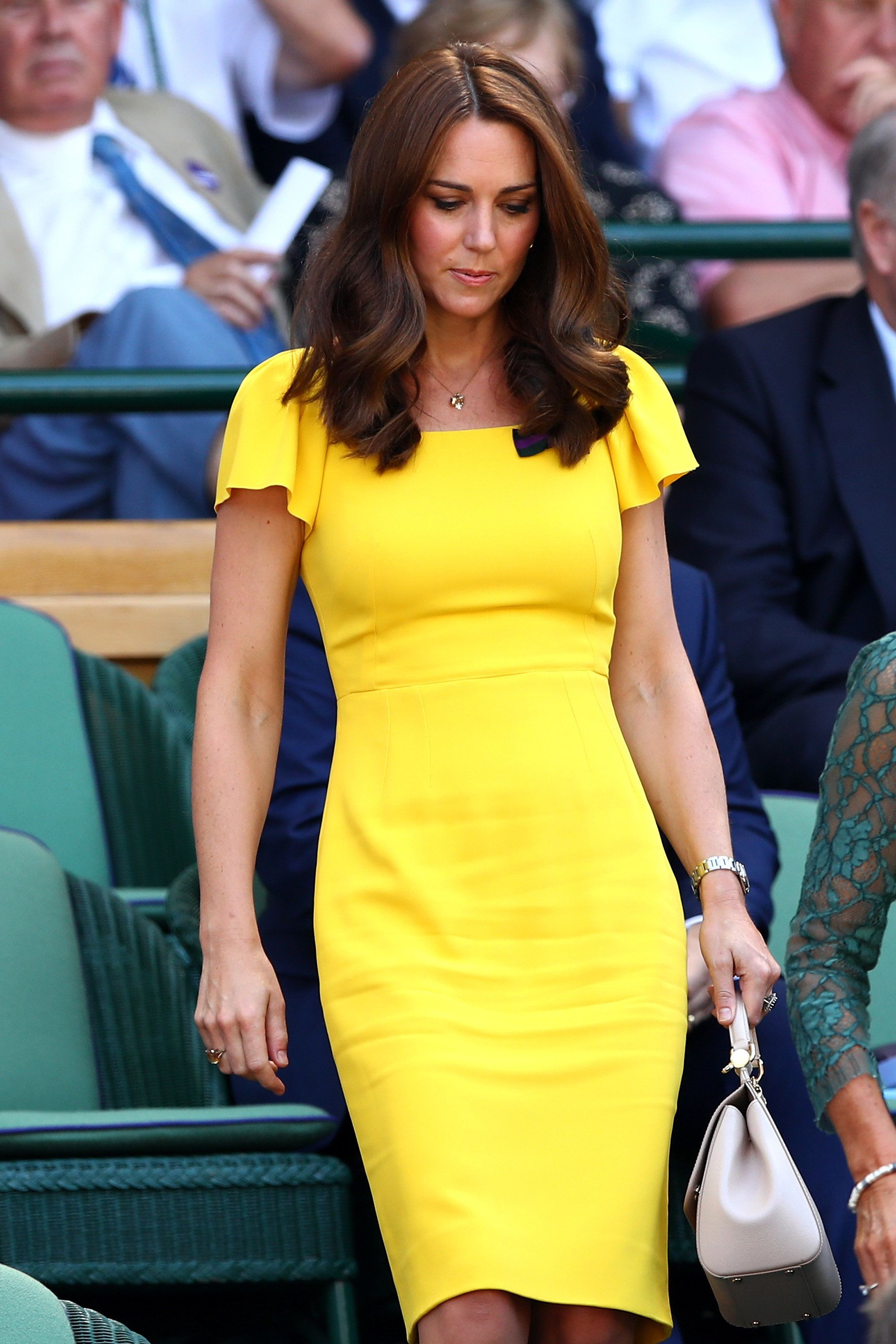 LOOKS WE LOVE: Kate Middleton Looking Lovely In Lemon At Wimbledon Last