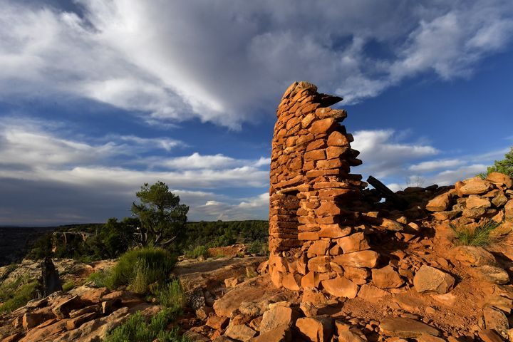 The best preserved of seven towers at the Mule Canyon Cave Towers site, just one of more than 100,000 archaeological sites in