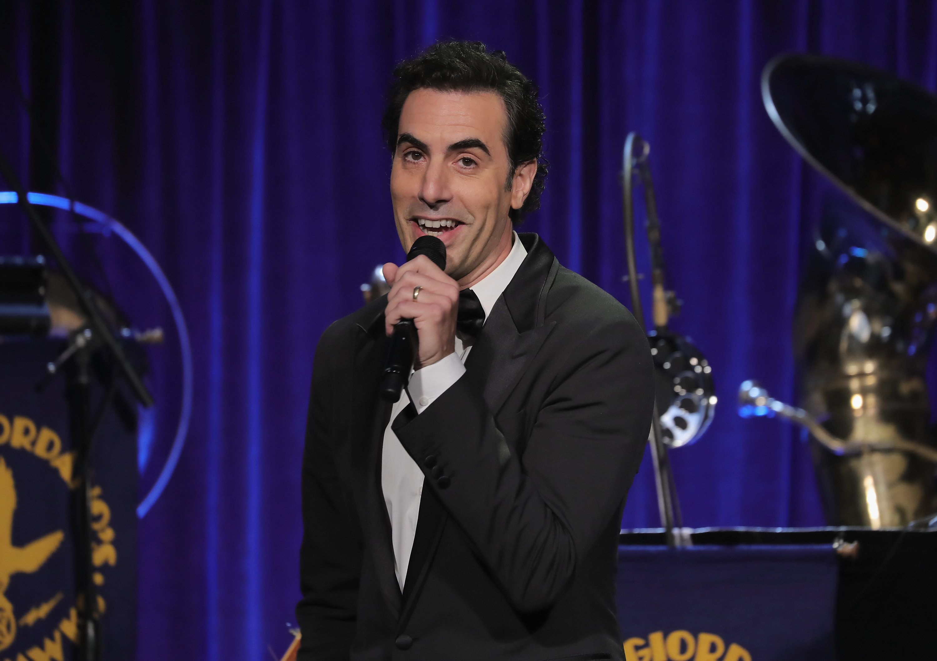 NEW YORK, NY - SEPTEMBER 21:  Sacha Baron Cohen onstage at the Friars Club Honoring Martin Scorsese With the Entertainment Icon Award at Cipriani Wall Street on September 21, 2016 in New York City.  (Photo by Neilson Barnard/Getty Images)