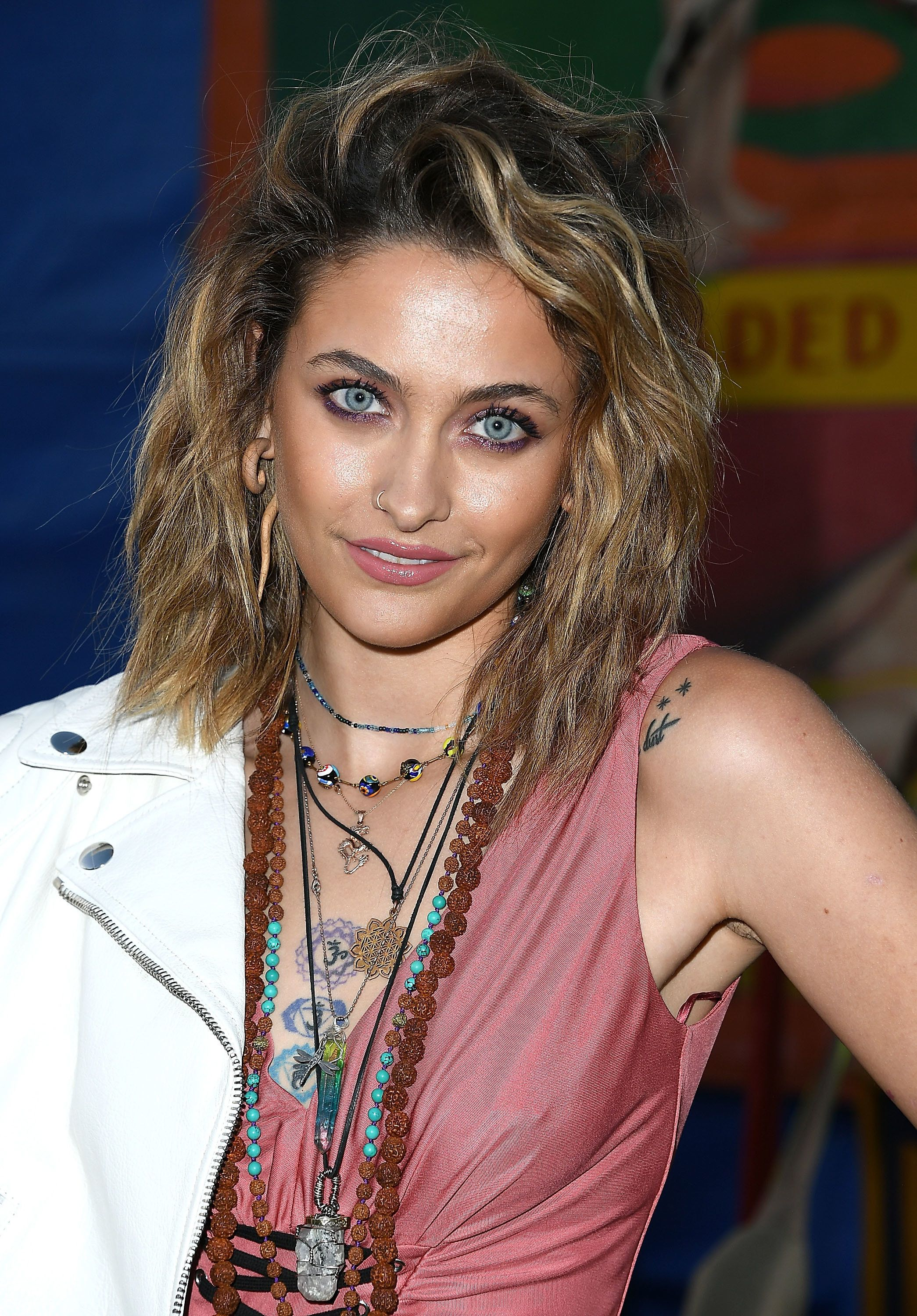 BURBANK, CA - JUNE 08:  Paris Jackson arrives at the Moschino Spring/Summer 19 Menswear And Women's Resort Collection at Los Angeles Equestrian Center on June 8, 2018 in Burbank, California.  (Photo by Steve Granitz/WireImage)