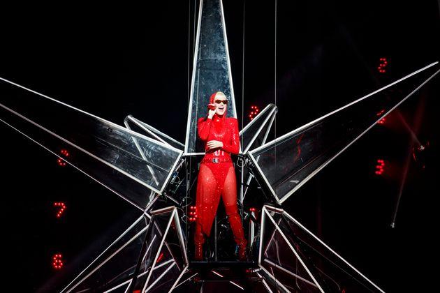 Katy performing live last