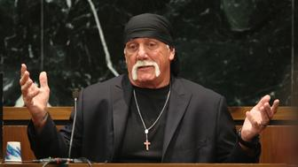 "Terry Bollea, aka Hulk Hogan, testifies in court during his trial against Gawker Media, in St Petersburg, Florida March 8, 2016. Hogan testified on Tuesday he no longer was ""the same person I was before"" following personal setbacks and the humiliation suffered when the online news outlet Gawker posted a video of him having sex with a friend's wife.   REUTERS/Tampa Bay Times/John Pendygraft/Pool  MANDATORY NYPOST OUT"