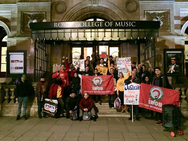 IWGB picket at Royal College of