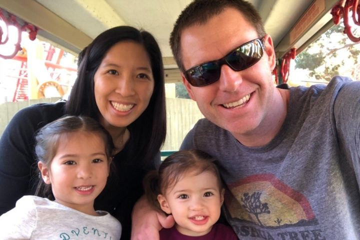 Tristan Beaudette, shown here with his wife and children, was killed at Malibu Creek State Park on June 22 while camping with