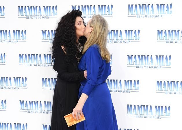 Cher and Meryl Streep at the