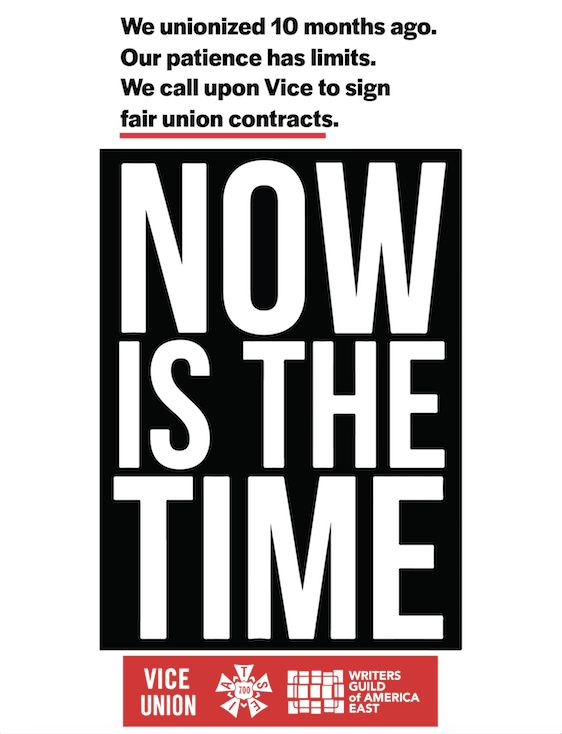 Vice's Unions Are Pissed Over Contract
