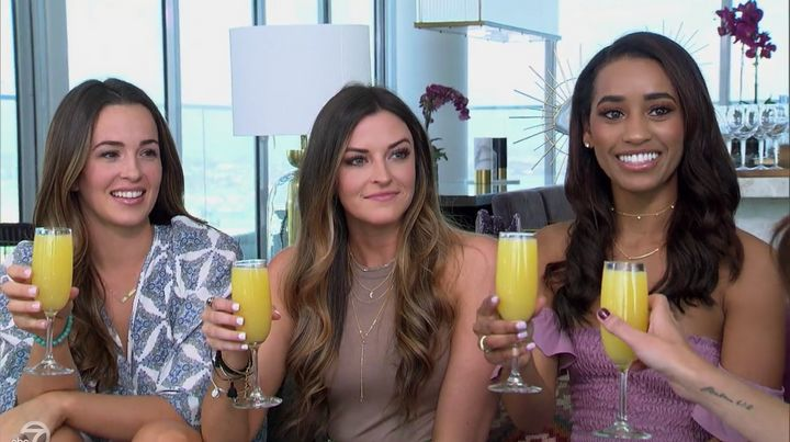 """Caroline Lunny, Tia Booth and Seinne Fleming on """"The Bachelorette."""""""