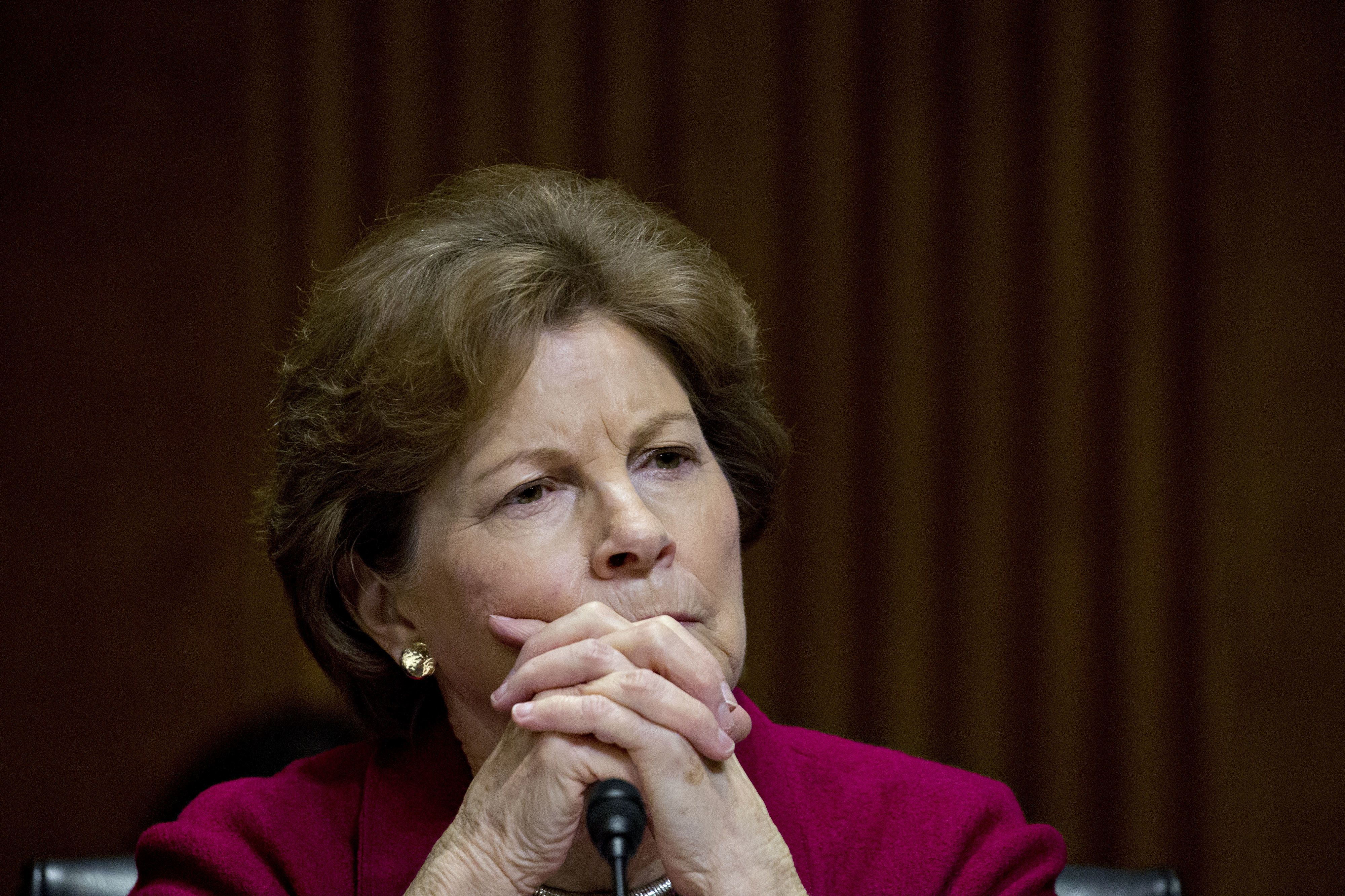 Senator Jeanne Shaheen, a Democrat from New Hampshire, listens during a Senate Foreign Relations Committee confirmation hearing for Michael Pompeo, director of the Central Intelligence Agency (CIA) and U.S. secretary of state nominee for President Donald Trump, not pictured, in Washington, D.C., U.S., on Thursday, April 12, 2018. Pompeo was pressed by Senators to give the president independent advice on foreign policy hot spots should he be confirmed as the next secretary of state. Photographer: Andrew Harrer/Bloomberg via Getty Images
