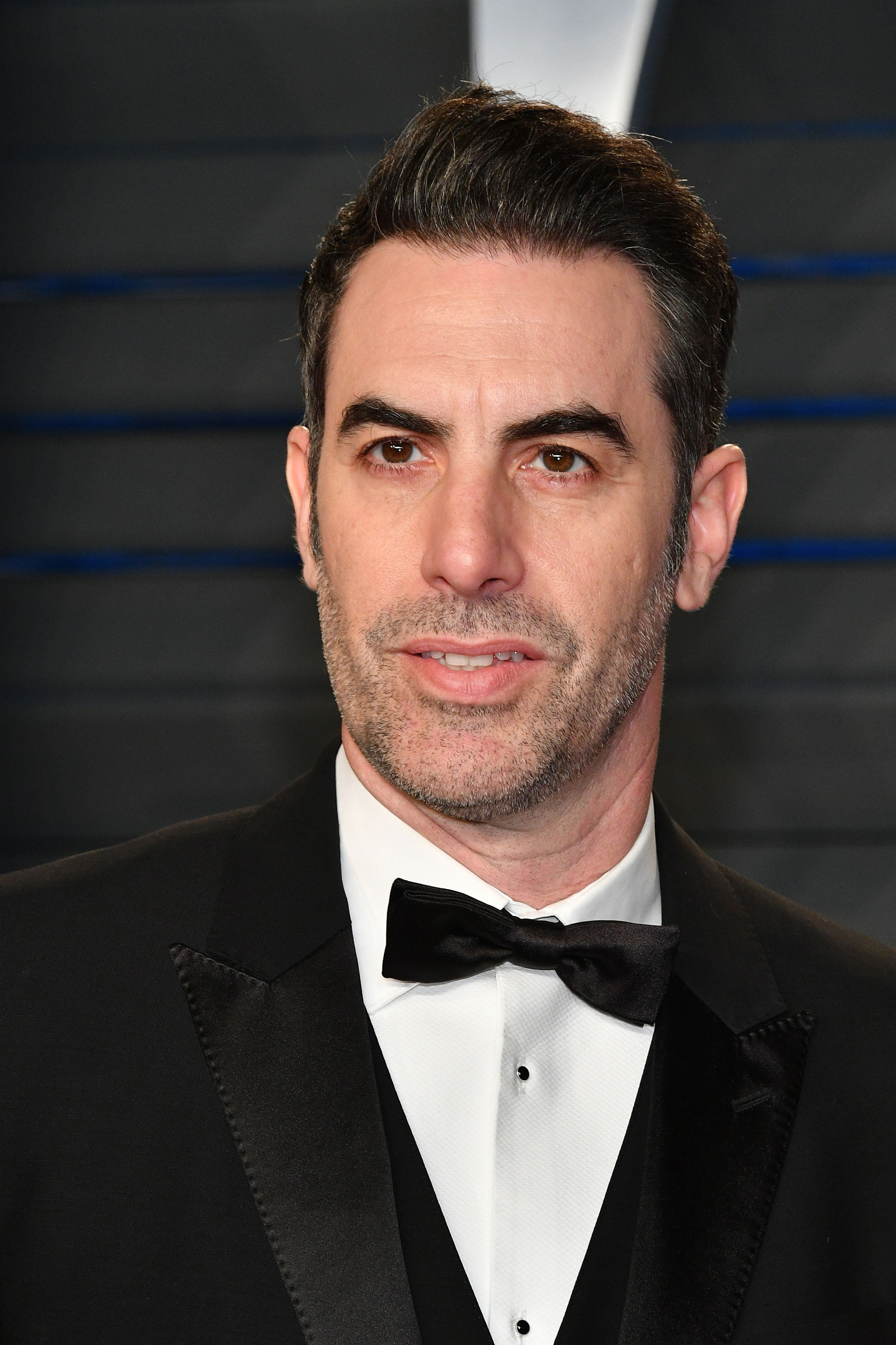 BEVERLY HILLS, CA - MARCH 04: Sacha Baron Cohen attends the 2018 Vanity Fair Oscar Party hosted by Radhika Jones at Wallis Annenberg Center for the Performing Arts on March 4, 2018 in Beverly Hills, California.  (Photo by Dia Dipasupil/Getty Images)