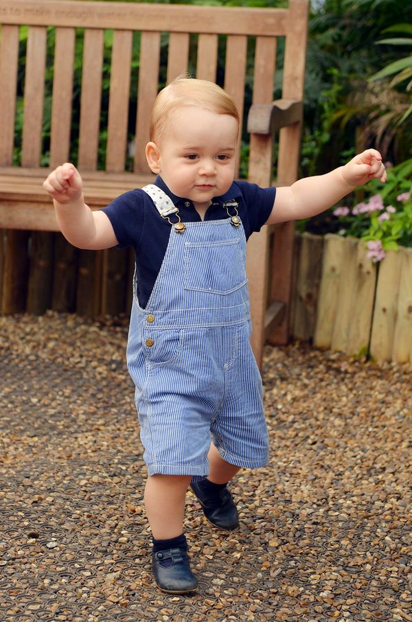 Portrait of Prince George taken July 2, 2014, ahead of his birthday atthe Natural History Museum in London.