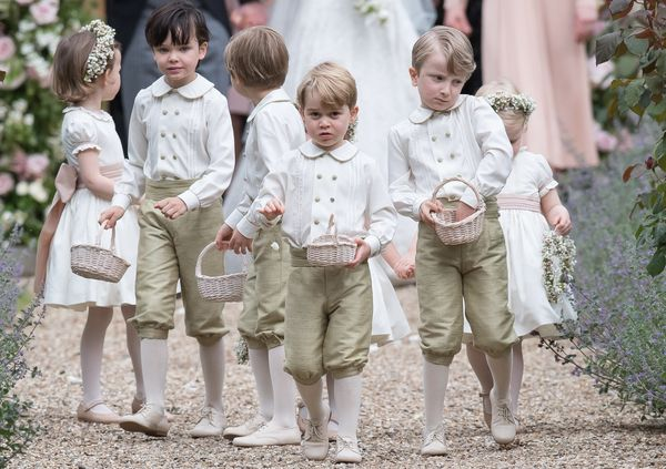 Prince Georgeat the wedding Of Pippa Middleton and James Matthews at St Mark's Church on May 20, 2017, in Englefield Gr