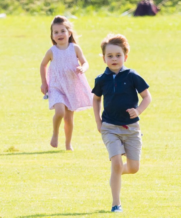 Prince George and Princess Charlotte converge on June 10 at the Maserati Royal Charity Polo Trophy at Beaufort Park ,
