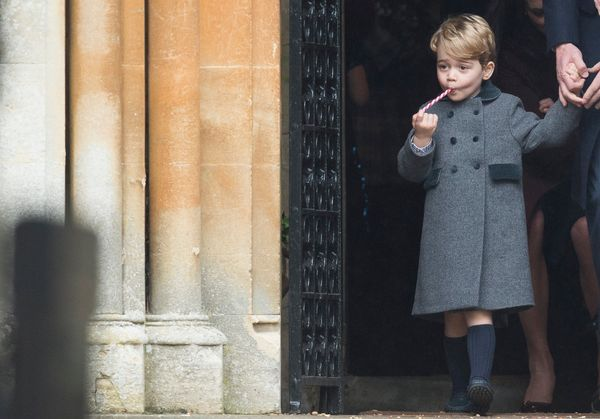 Prince George of Cambridge attends Church on Christmas Day onDec. 25, 2016, in Bucklebury, Berkshire.