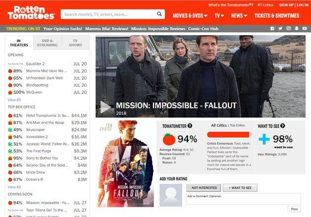 북미 영화 평론가들은 '미션 임파서블: 폴아웃'을 이렇게