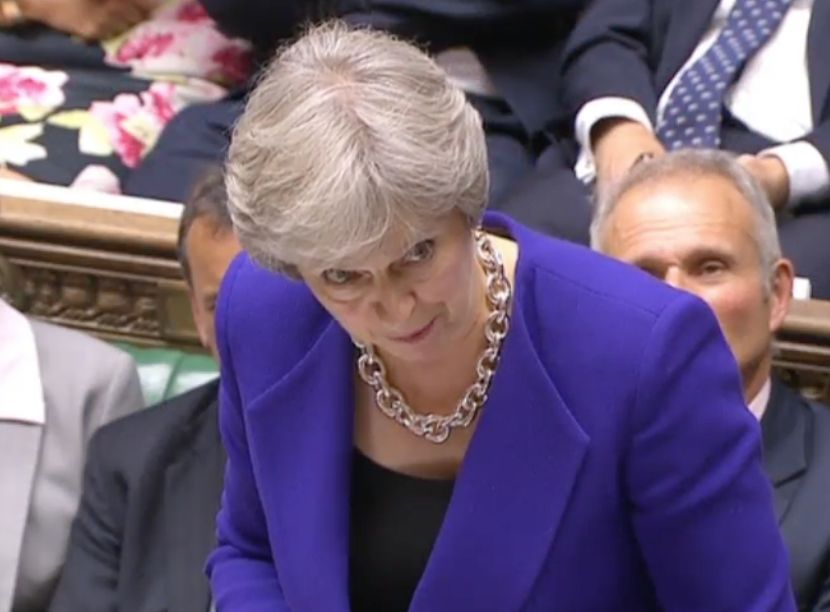 UK PM May says her chief whip Smith made honest mistake