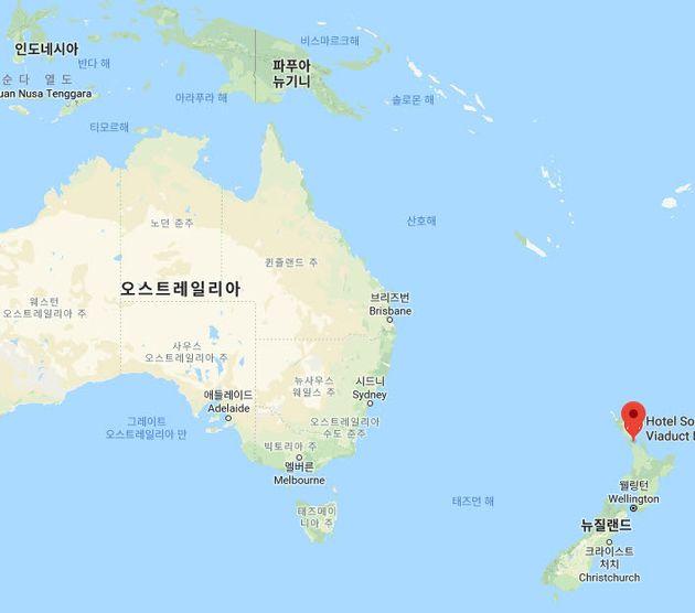 뉴질랜드는 호주 남동쪽에